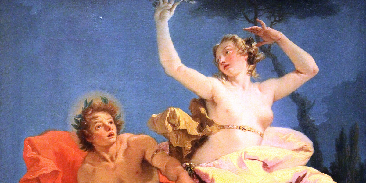 "Giovanni Battista Tiepolo(1696–1726): »Apollo e Dafne« (1743/44); Louvre, Paris (France) <a href=""https://creativecommons.org/licenses/by-sa/3.0/"">CC BY-SA 3.0</a> · Sailko"
